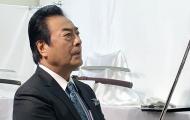 大刀剣市2017越前守助廣(村雨)を持つ髙橋秀樹さん