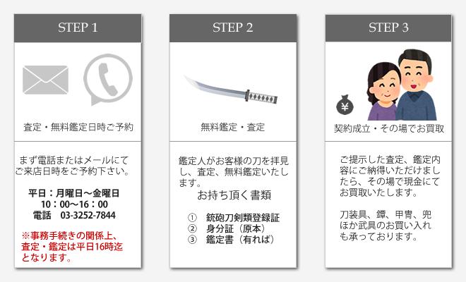 日本刀・刀ご売却買取について