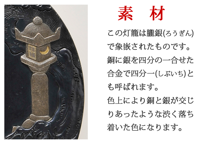 鐔の素材 赤銅